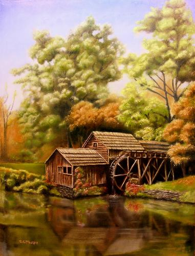 A Landscape Oil Painting Demonstration Mabry Mill